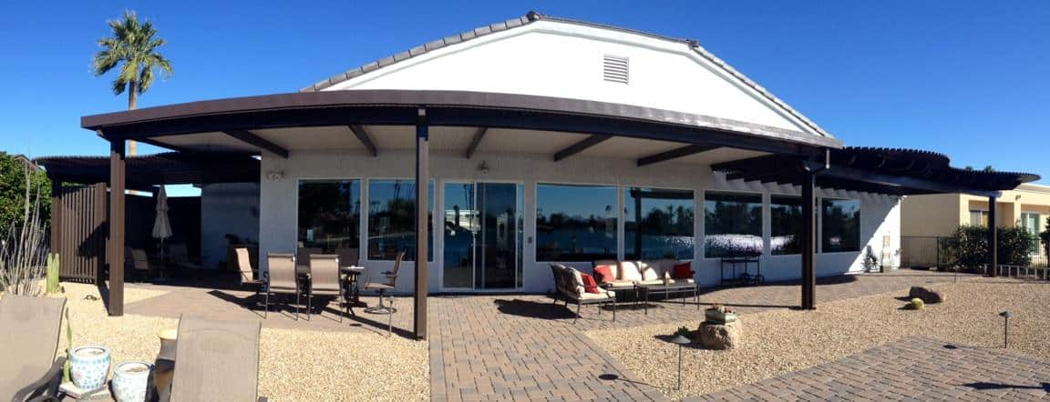 Attached Aluminum Patio with Lattices by Grand Building and Remodeling