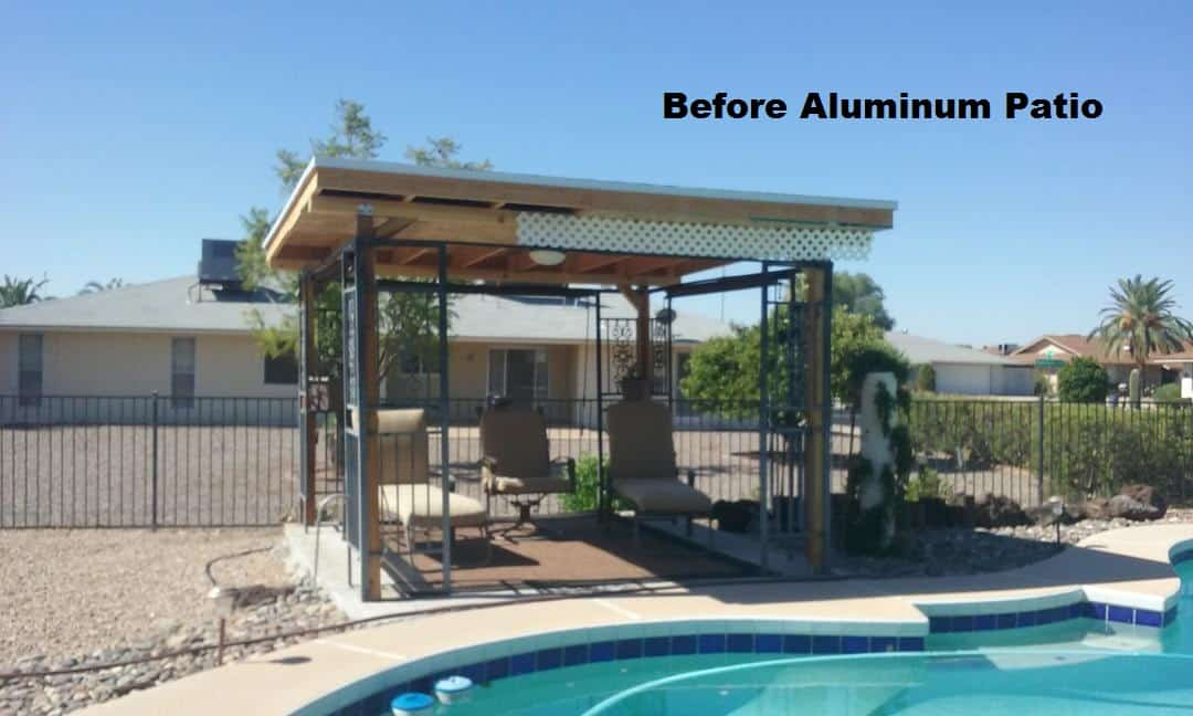 Poolside aluminum standalone patio