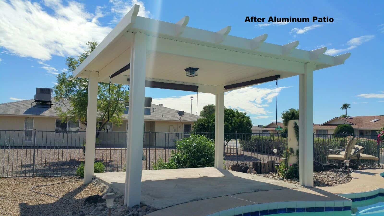 A large aluminum patio